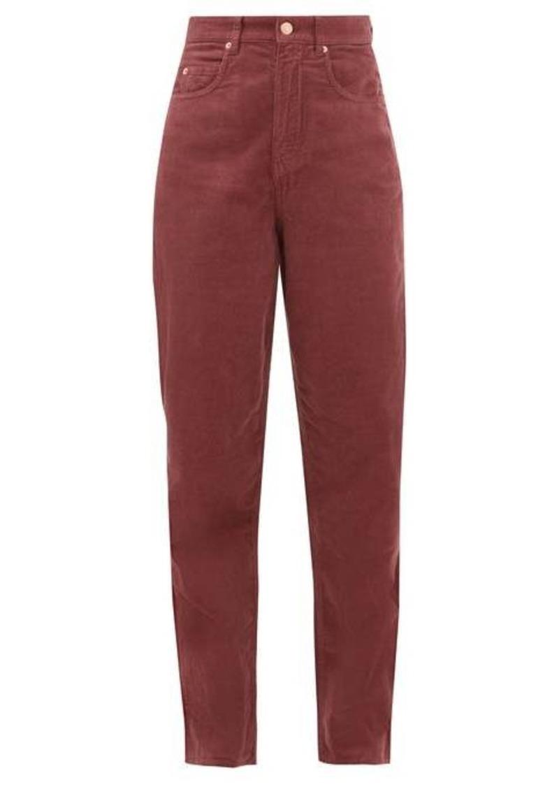 Isabel Marant Étoile Corsyv cotton-corduroy straight-leg trousers
