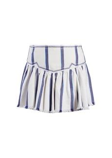 Isabel Marant Étoile Delia gathered striped skirt