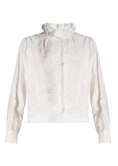 Isabel Marant Étoile Delphine ruffled high-neck blouse