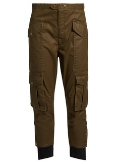 Isabel Marant Étoile Dexter cropped coated-twill trousers