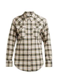 Isabel Marant Étoile Divana Western check cotton shirt
