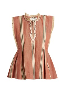 Isabel Marant Étoile Drappy sleeveless striped top
