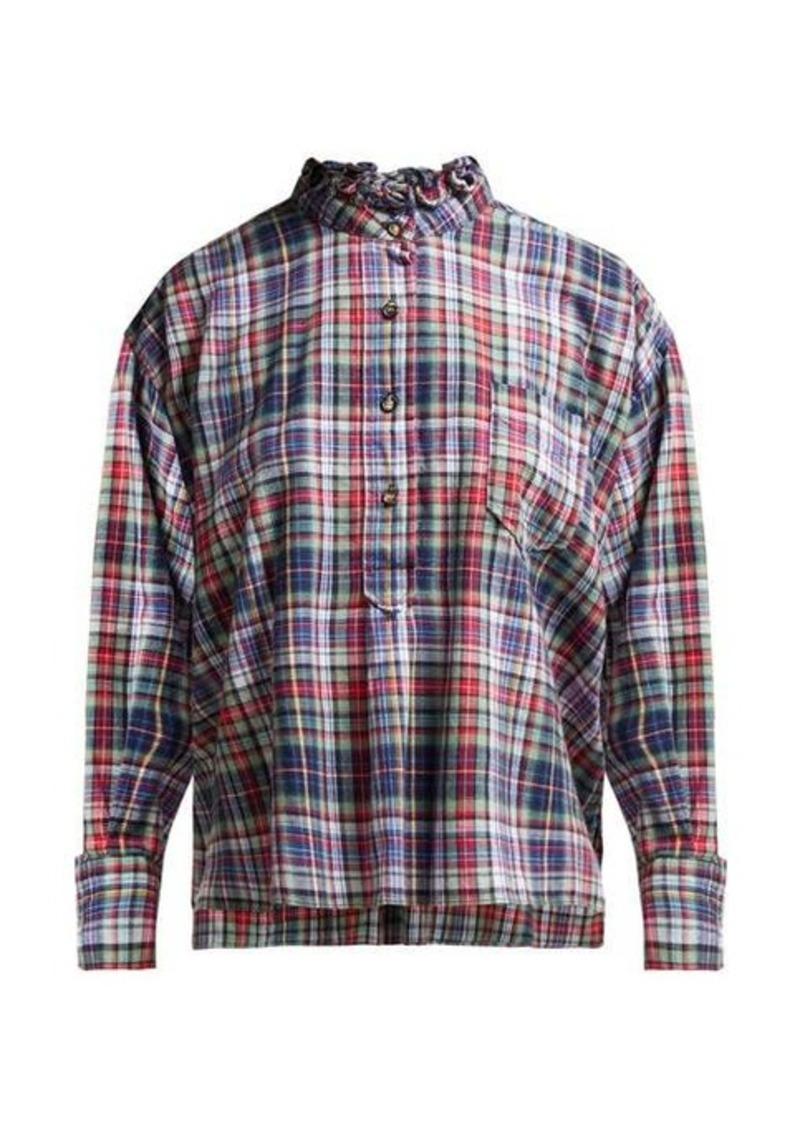 Isabel Marant Étoile Dresden ruffle-collar check shirt