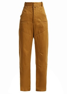 Isabel Marant Étoile Driest high-rise cotton trousers