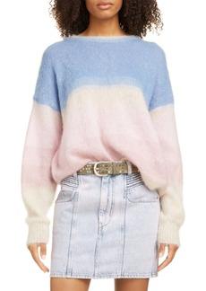 Isabel Marant Étoile Drussell Colorblock Mohair Blend Sweater