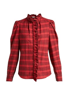 Isabel Marant Étoile Dules ruffle-collar cotton shirt