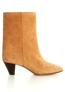 Isabel Marant Étoile Dyna cone-heel suede ankle boots