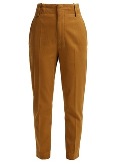 Isabel Marant Étoile Dysart high-rise cotton chino trousers