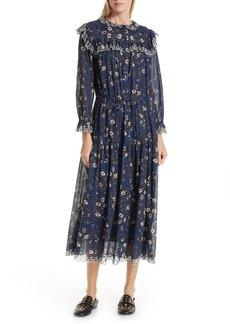 Isabel Marant Étoile Eina Floral Print Midi Dress
