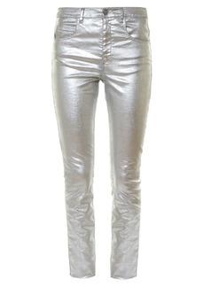 Isabel Marant Étoile Ellos metallic high-rise skinny jeans