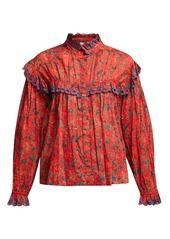Isabel marant isabel marant toile elmira floral print cotton blouse abv6ab98bf2 a
