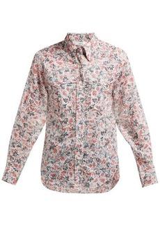 Isabel Marant Étoile Emelina leaf-print cotton shirt