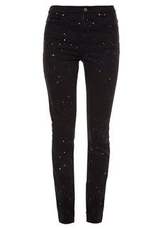 Isabel Marant Étoile Ennet paint splash-print high-rise skinny jeans