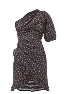 Isabel Marant Étoile Esthera floral-dot cotton-voile mini dress