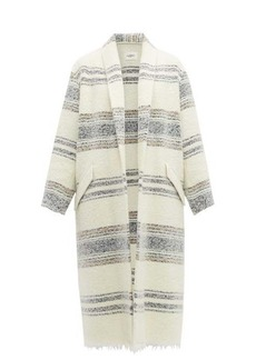 Isabel Marant Étoile Faby open-front striped wool overcoat