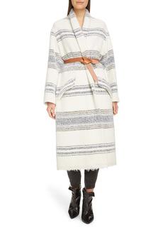 Isabel Marant Étoile Faby Stripe Wool Blend Coat