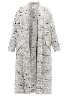 Isabel Marant Étoile Faby waterfall-collar slubbed-bouclé coat