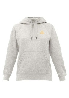 Isabel Marant Étoile Flocked-logo cotton-blend hooded sweatshirt