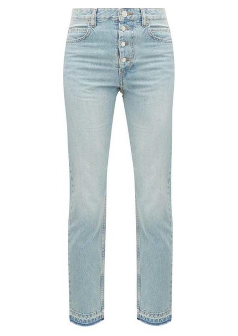 Isabel Marant Étoile Garance raw-hem cropped jeans
