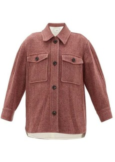 Isabel Marant Étoile Garvey wool-herringbone shirt jacket