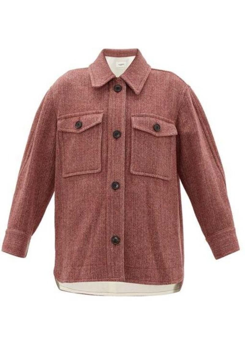Isabel Marant Étoile Garvey wool-herringbone shirt jacket