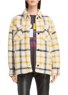 Isabel Marant Étoile Gast Check Wool Blend Jacket