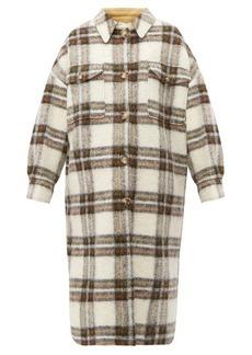 Isabel Marant Étoile Gabrion oversized checked wool-blend blanket coat