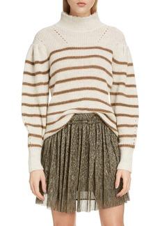 Isabel Marant Étoile Georgia Stripe Mock Neck Sweater