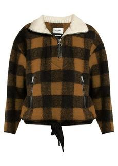 Isabel Marant Étoile Gilas zip-neck checked jacket