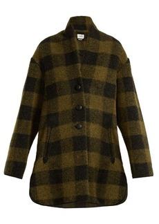 Isabel Marant Étoile Gino checked wool-blend coat