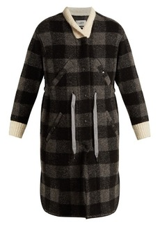 Isabel Marant Étoile Glitz tie-waist checked coat