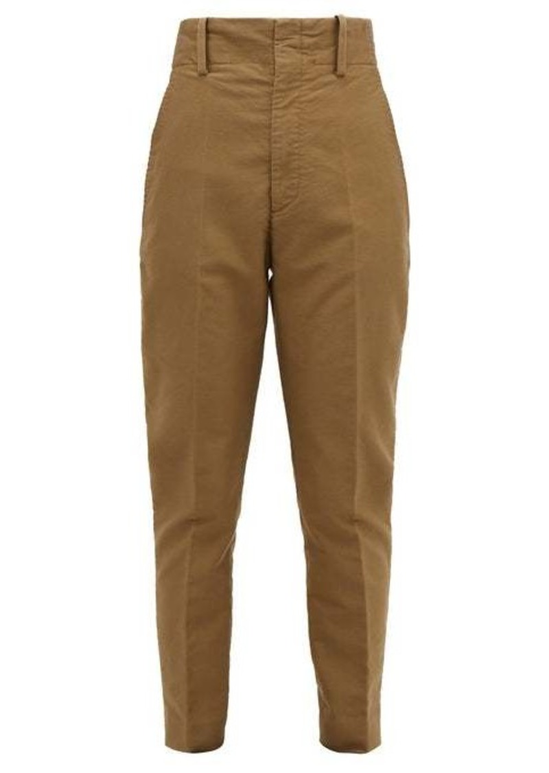 Isabel Marant Étoile Goah tapered cotton trousers
