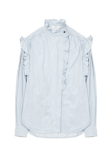 Isabel Marant Étoile Gossia Ruffled Cotton-Voile Shirt