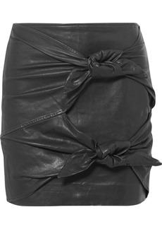 Isabel Marant Gritanny leather mini skirt