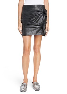 Isabel Marant Étoile Gritanny Tied Leather Skirt