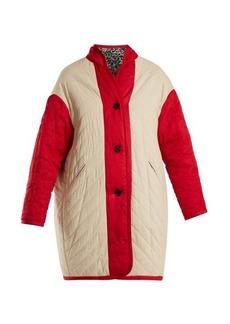 Isabel Marant Étoile Haley floral-print reversible quilted coat