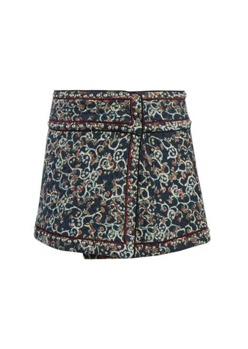 Isabel Marant Étoile Hanon quilted cotton-blend mini skirt