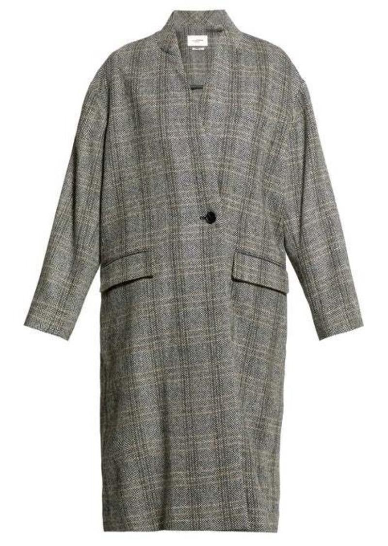 Isabel Marant Étoile Henlo checked wool overcoat