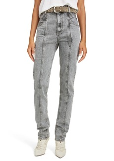 Isabel Marant Étoile Hominy Acid Wash High Waist Jeans