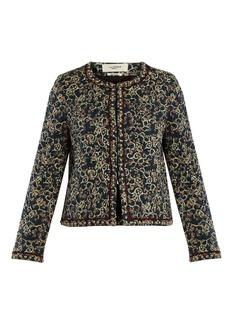 Isabel Marant Étoile Hustin floral-print quilted jacket