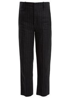 Isabel Marant Étoile Idini wide-leg striped linen trousers