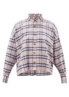 Isabel Marant Étoile Ilaria ruffled checked cotton shirt