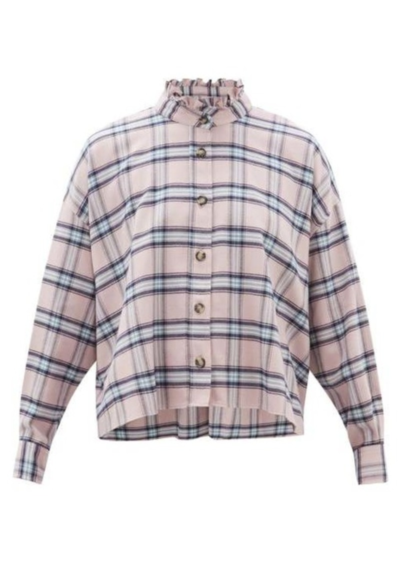 Isabel Marant Étoile Ilaria ruffled checked cotton shirt