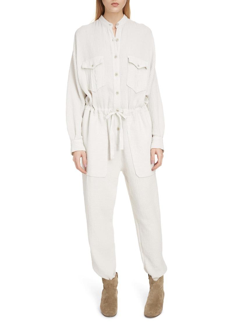 Isabel Marant Étoile Jaya Textured Cotton Romper
