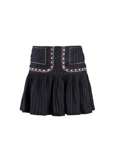 Isabel Marant Étoile Jessie pinstriped gathered linen skirt