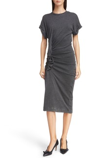 Isabel Marant Étoile Jisa Gathered Wool Midi Dress