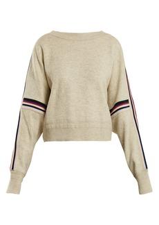 Isabel Marant Étoile Kao striped-detail cotton-blend sweater