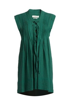 Isabel Marant Étoile Karen lace-up sleeveless mini dress