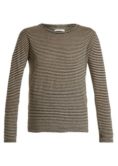 Isabel Marant Étoile Karon long-sleeved striped linen-blend T-shirt
