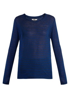 Isabel Marant Étoile Karon striped linen-blend top